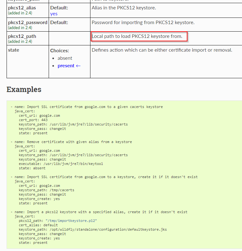 Developers - java_cert module: add import keystore option -