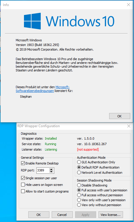 Rdp Wrapper Listening Not Supported Windows 10 - gaurani