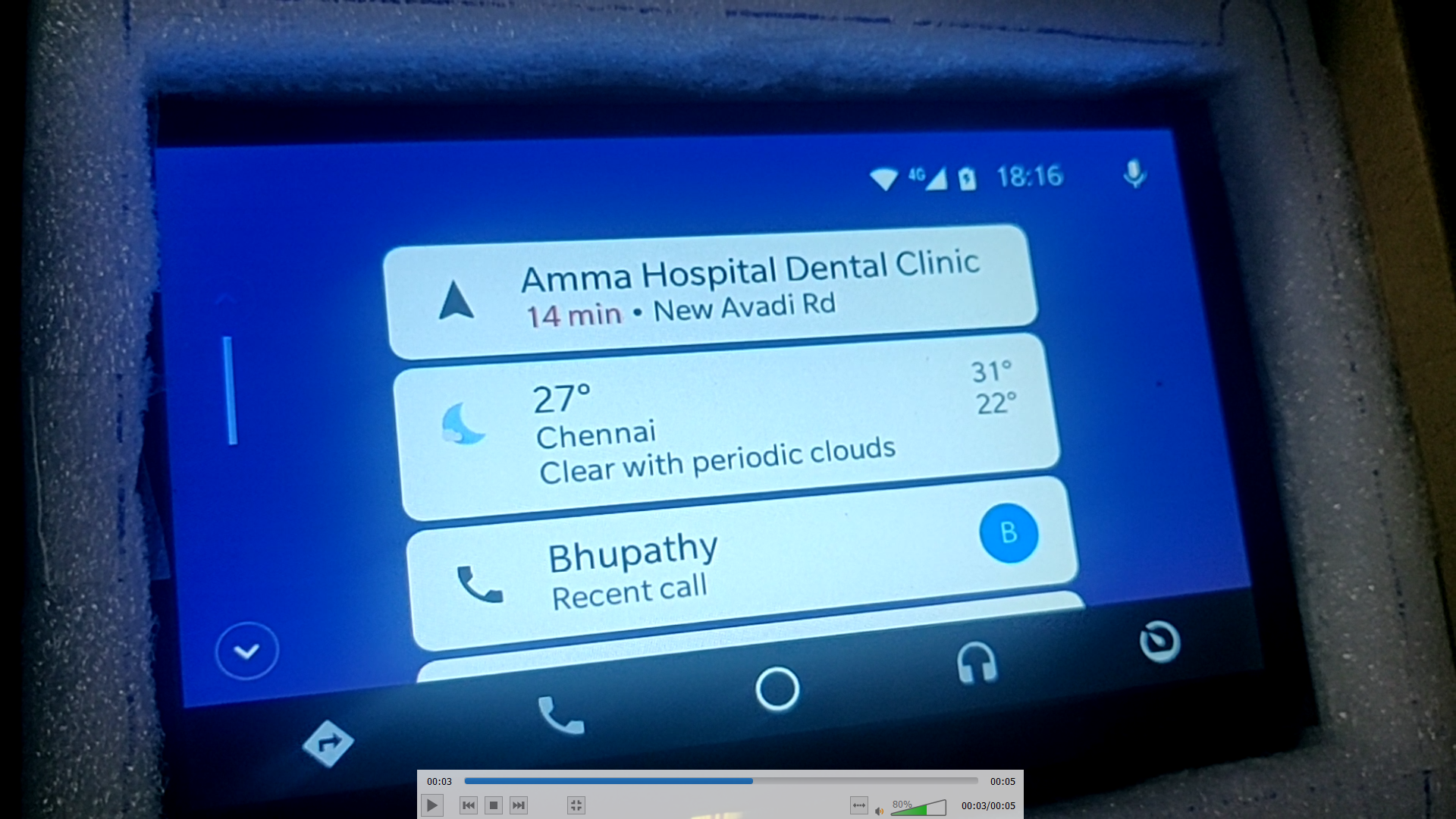 Android Auto closing automatically after some seconds