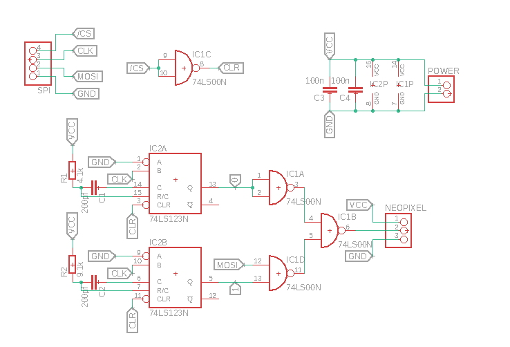 Schematic with only 74xx02 will not work · Issue #1 · benheck/SPI on