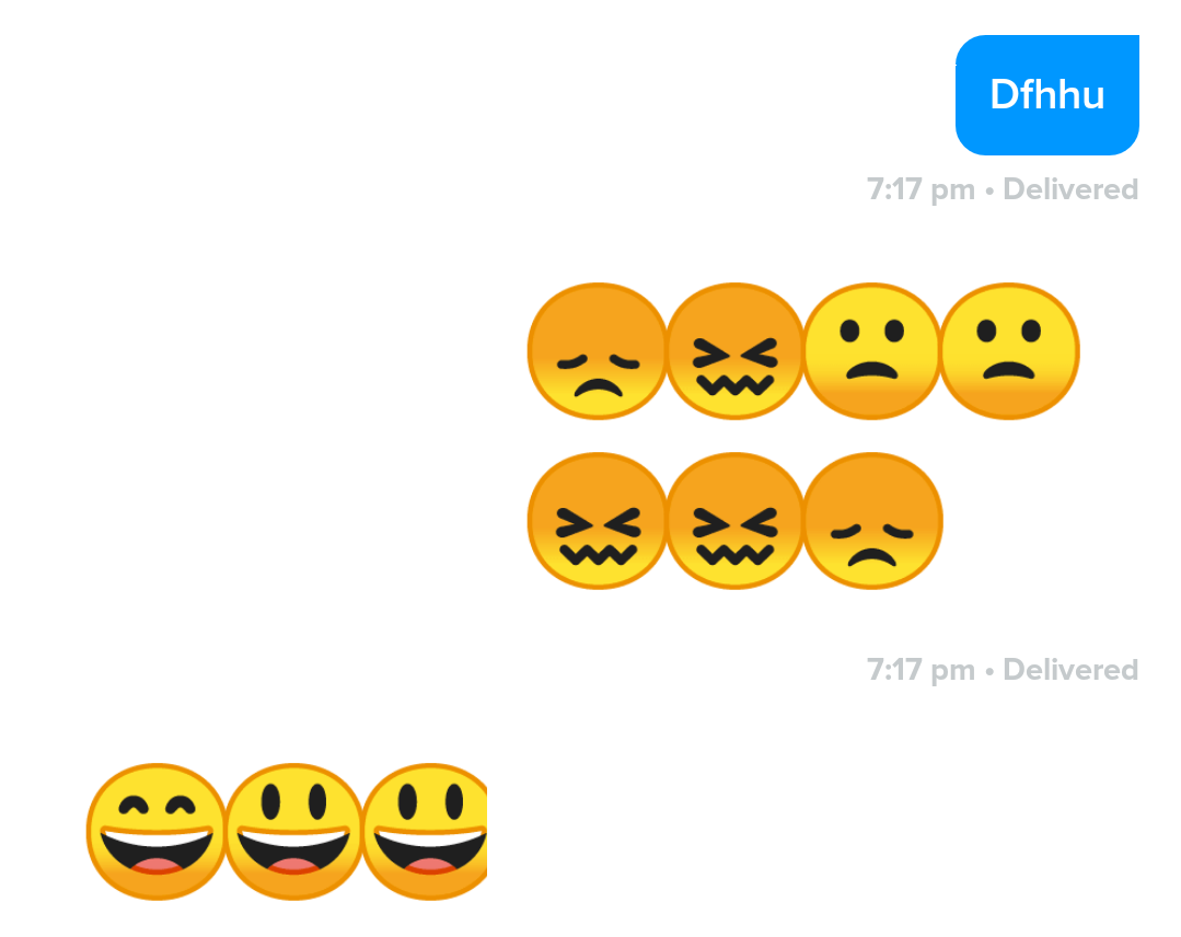 EmojiAppCompatTextView And Show The Emojis Overlapping Does Someone Have Some Idea How Fix This Issue 1