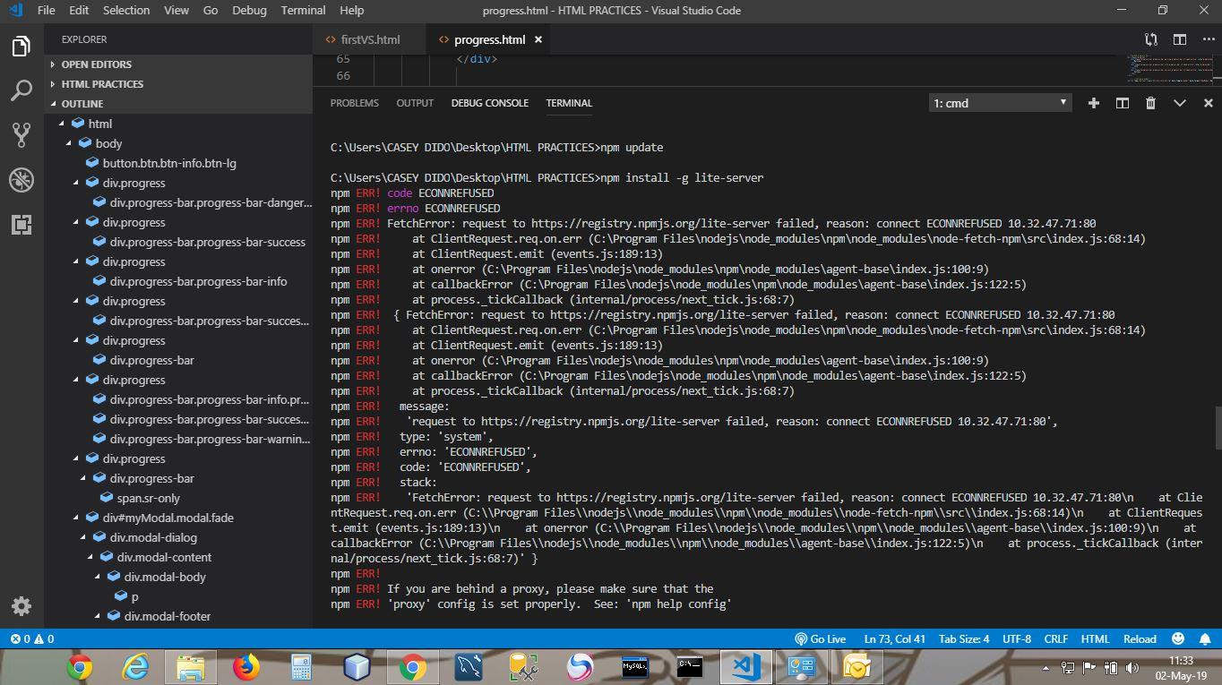 npm ERR! code: 'ECONNREFUSED', · Issue #1887 · nodejs/help