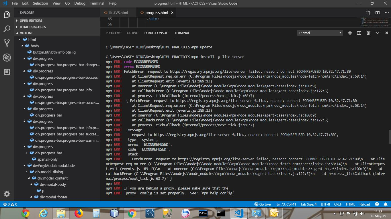 Npm is not install - npm ERR! code ECONNRESET npm ERR! errno