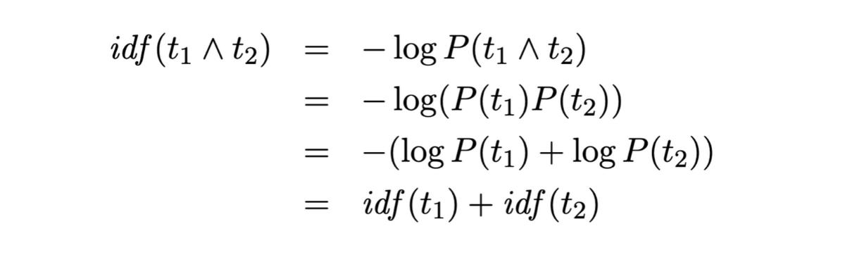 IDF derivation