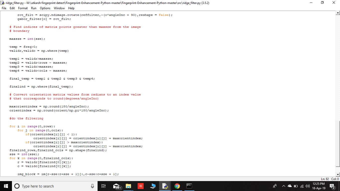 Gabor_Filter Float Error · Issue #2 · Utkarsh-Deshmukh/Fingerprint