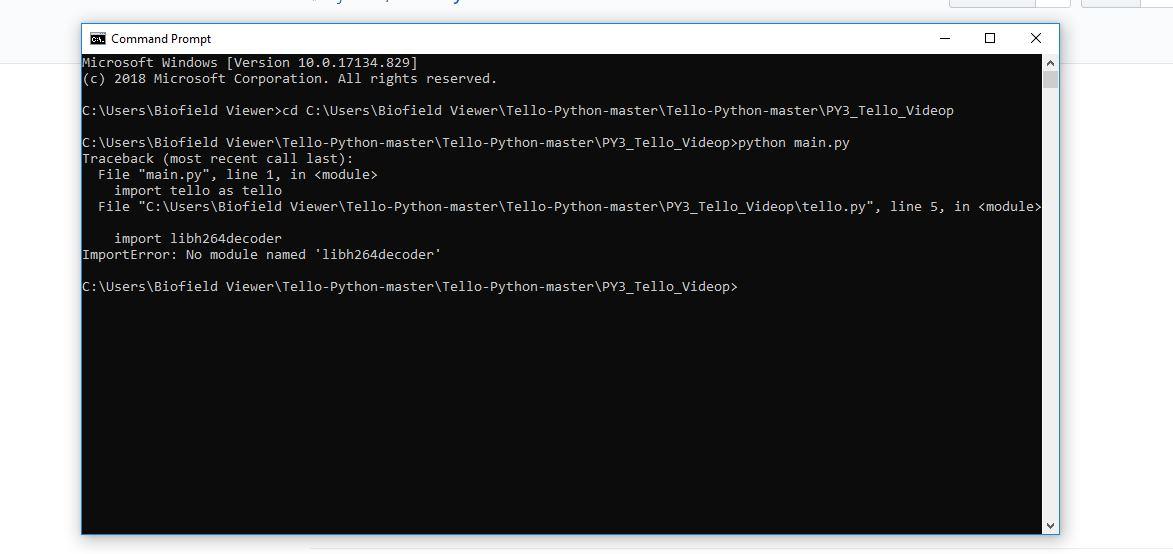no module found libh264decoder · Issue #29 · dji-sdk/Tello