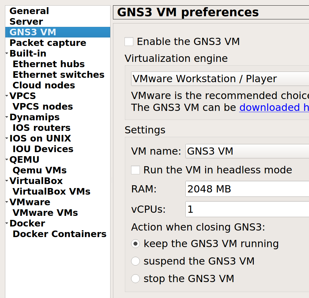 Closing one gns3 window will cause VM to shutdown while