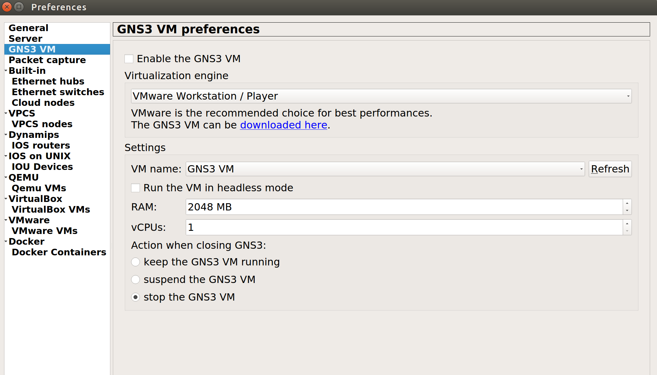Validate the GNS3 VM network settings · Issue #1359 · GNS3/gns3