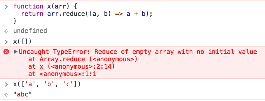 empty array