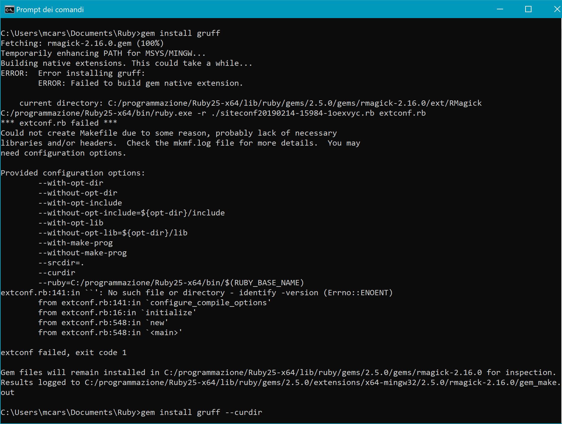 Error installing gruff windows 10 · Issue #184 · topfunky/gruff · GitHub