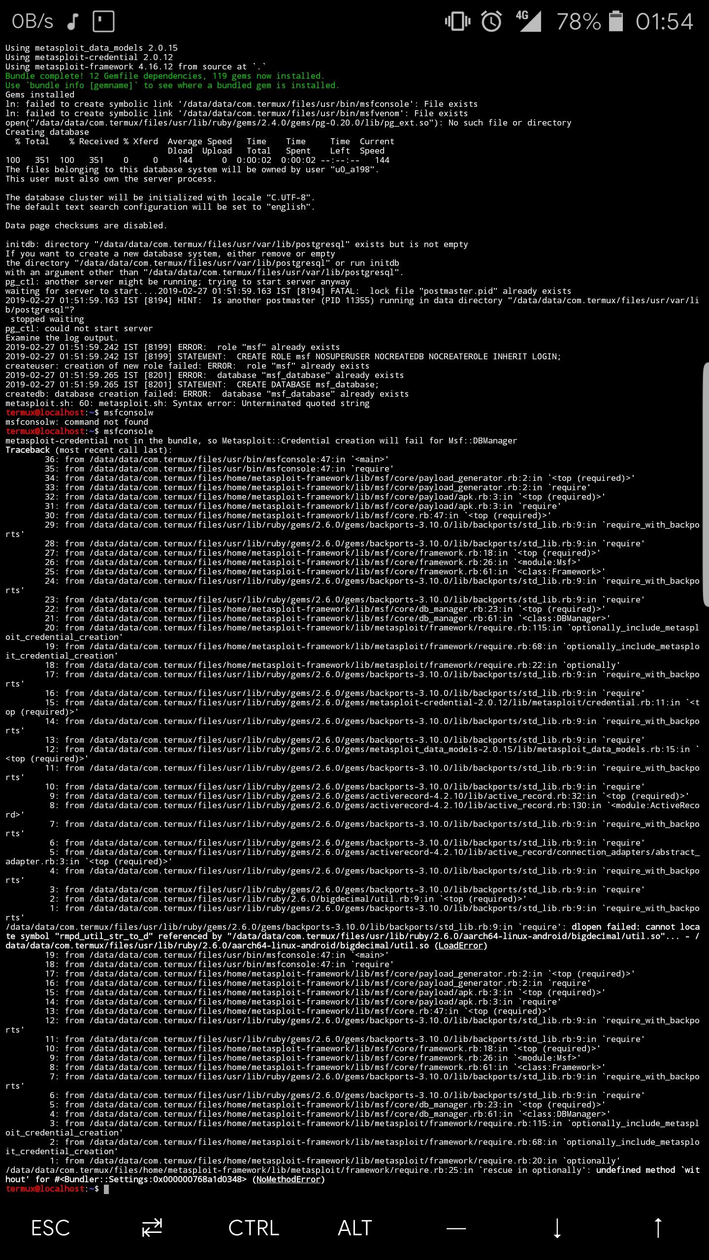 Metasploit no longer runs!!! · Issue #3394 · termux/termux-packages