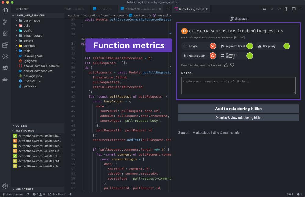 Function metrics
