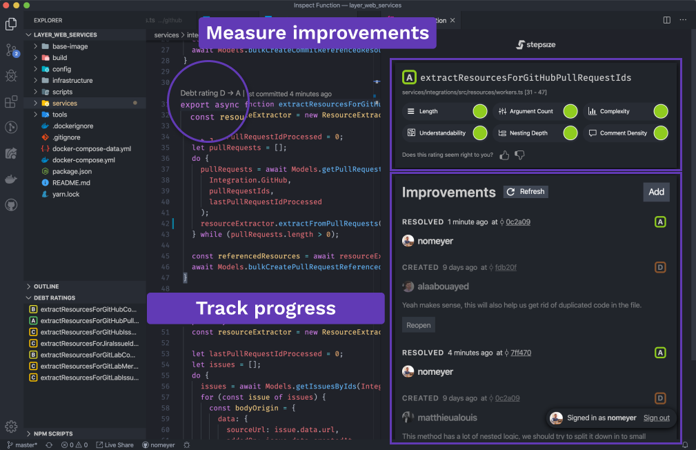 Measure improvements