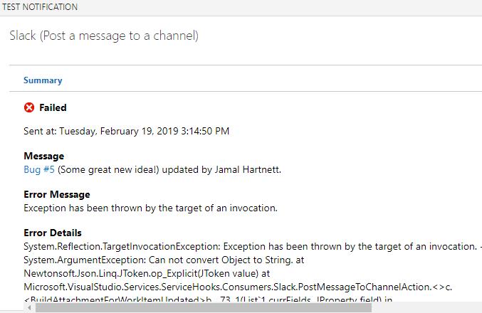 Issues with Slack integration ? - Notifcation for tasks
