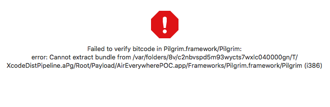 Error with iOS Signing on XCode - Failed to Verify Bitcode