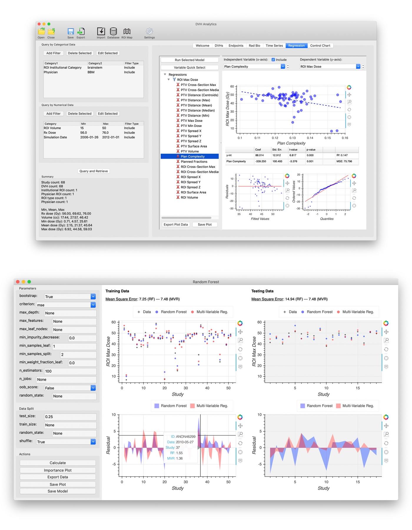 DVH Analytics screenshot