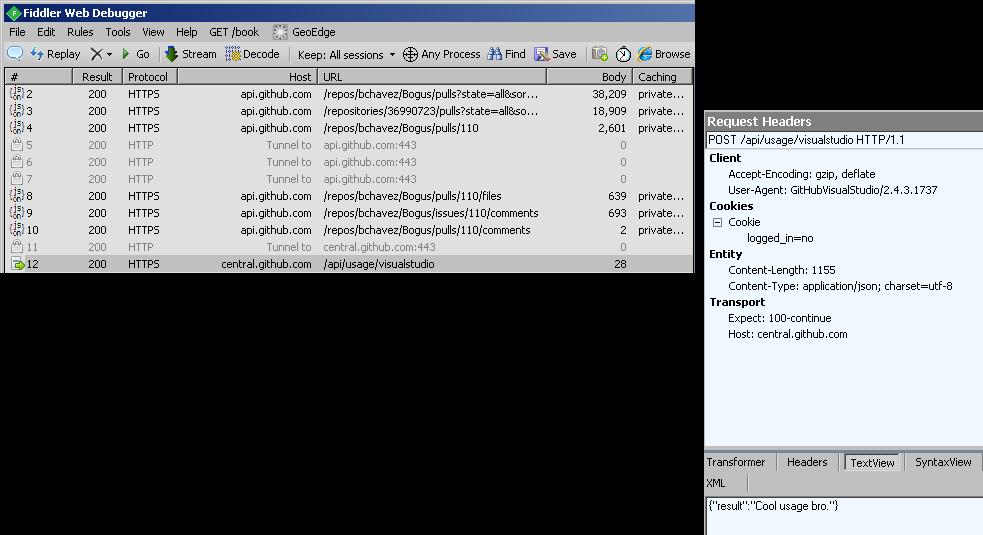 PR failed to load · Issue #1539 · github/VisualStudio · GitHub