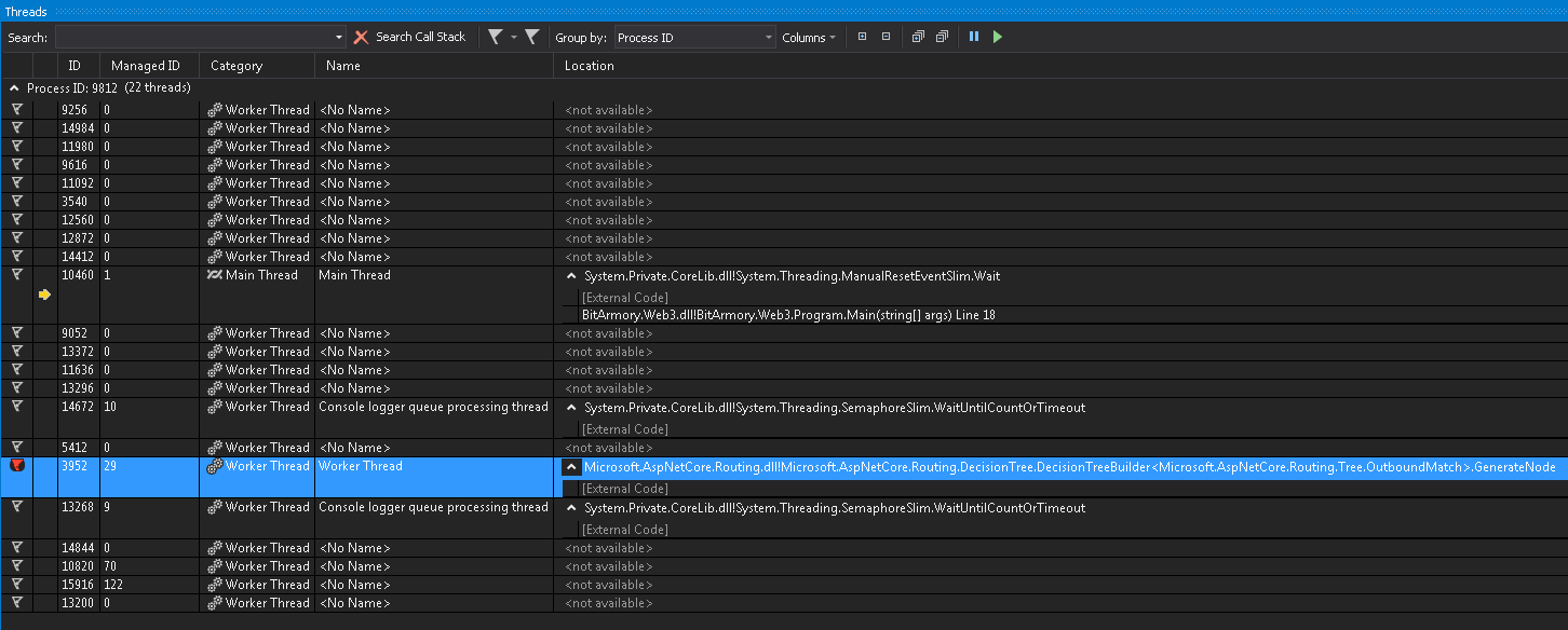Memory Leak in new ASPNET 2 2 routing? · Issue #6102