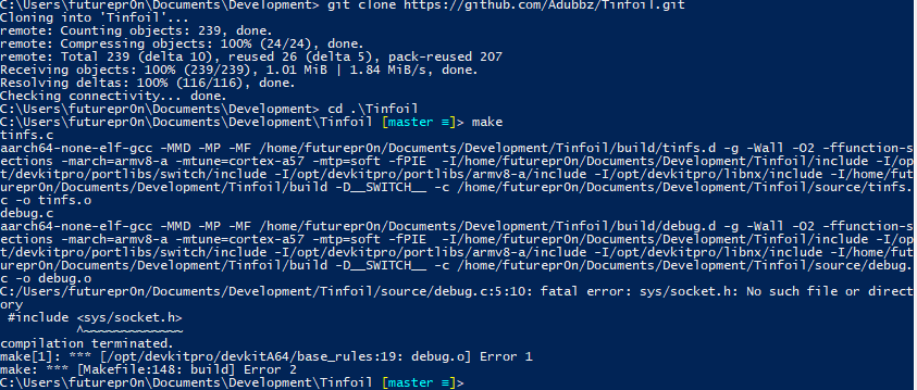 Could not build fatal error: sys/socket h · Issue #4