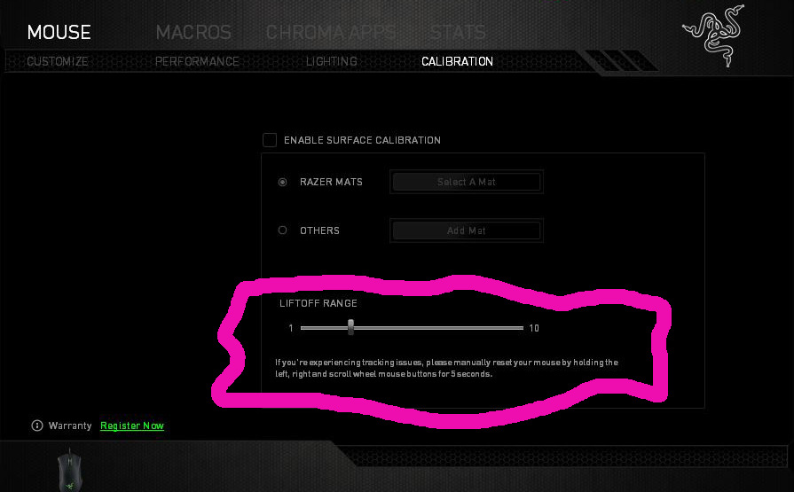 FR] Support for LIFTOFF distance feature in Razer mice