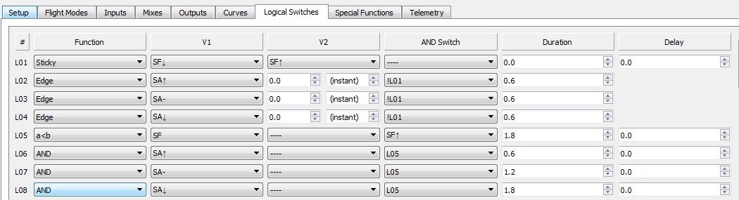 VTX power change - OpenTX Logical switches(basic)