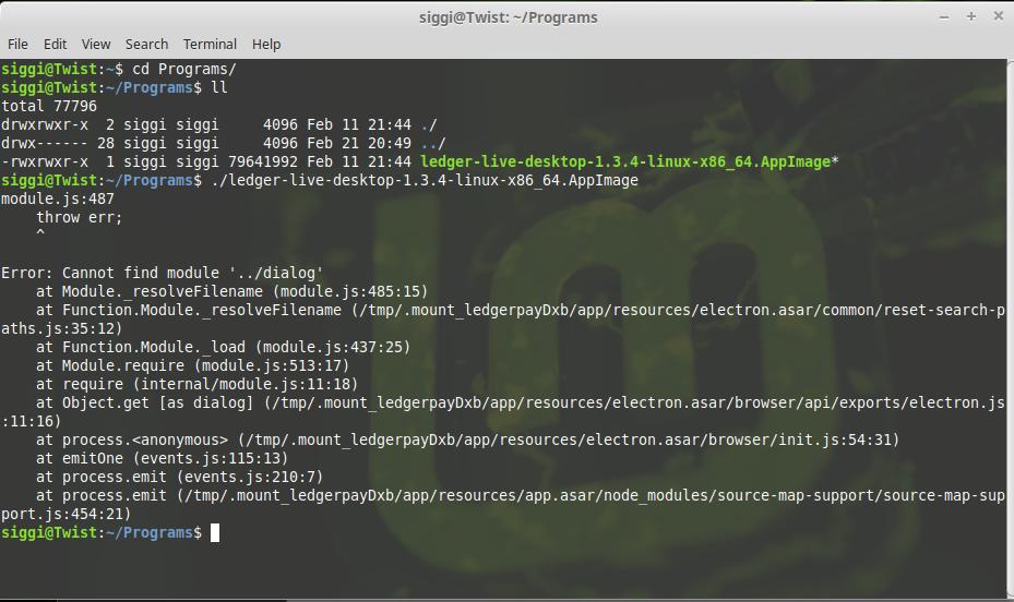 Runtime error - Module js 487 Error: Cannot find module