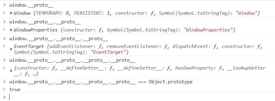 window object inherits Object.prototype