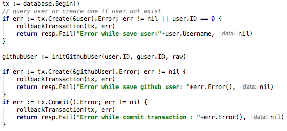 IMPROVEMENT] the gorm transaction implementation is really