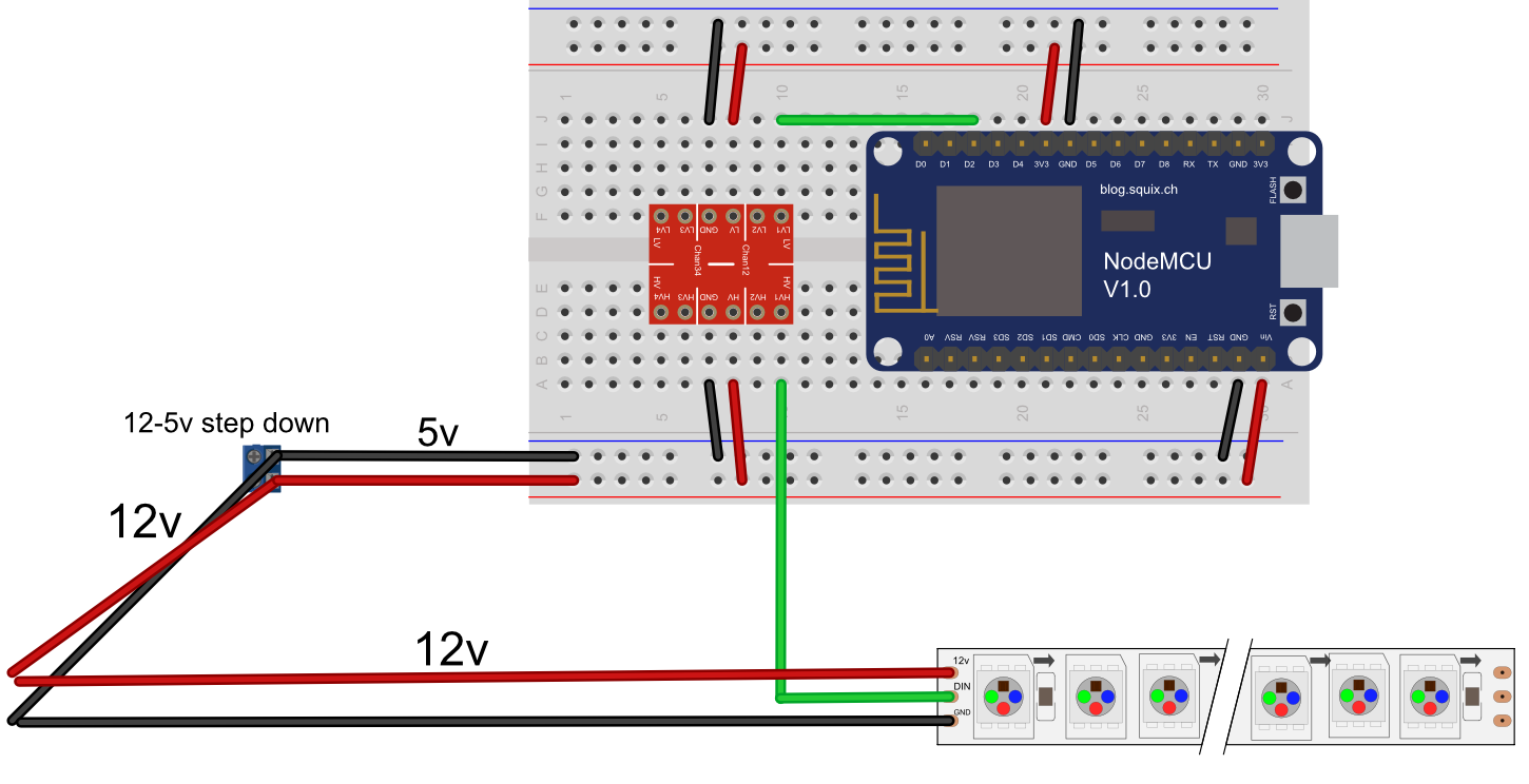 Using 12v ws2811, only first IC lights up. · Issue #351 ... on