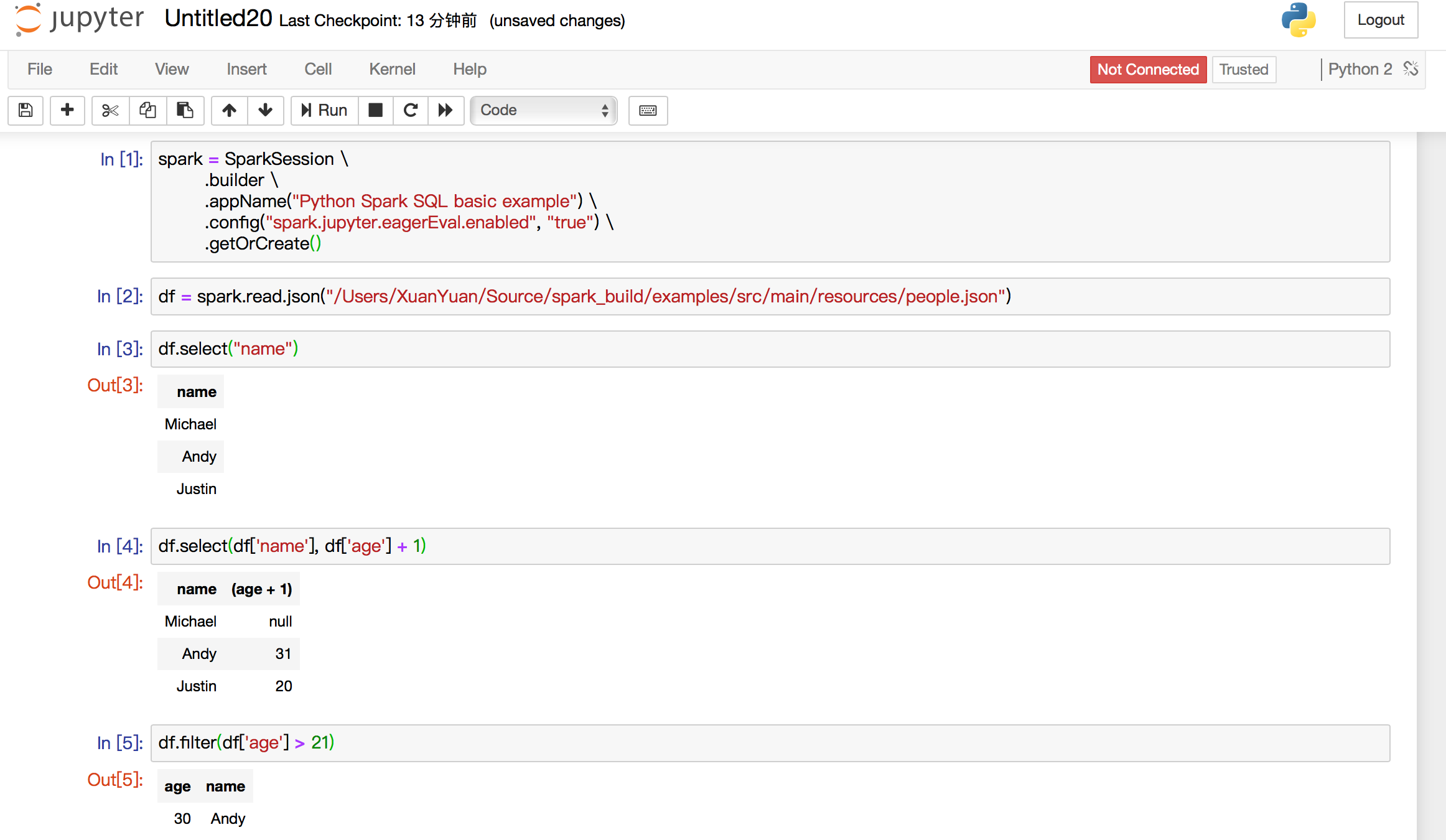 spark git commit: [SPARK-24215][PYSPARK] Implement _repr_html_ for