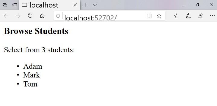 Surprise: VB NET has built-in razor pages, so let's have VB