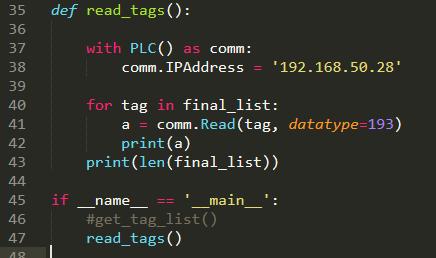 Speeding up reads · Issue #46 · dmroeder/pylogix · GitHub