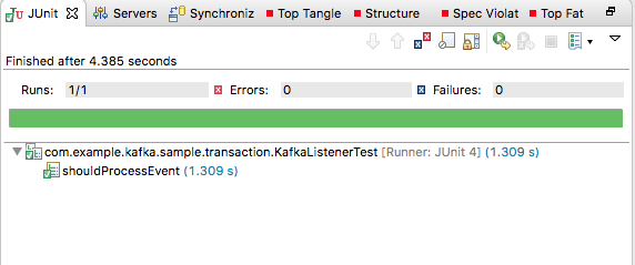 Sending message from transactional Kafka listener: Invalid