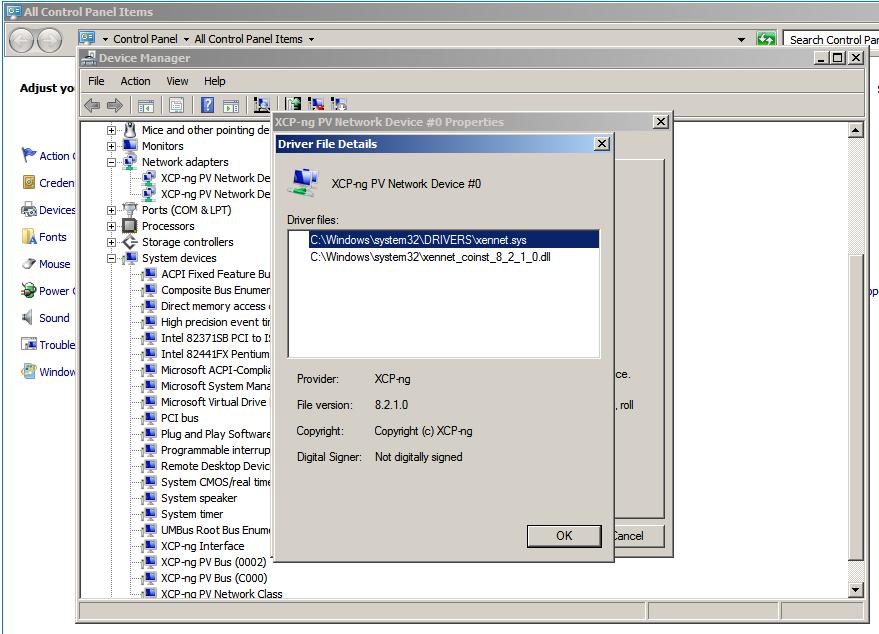 Windows PV tools · Issue #23 · xcp-ng/xcp · GitHub