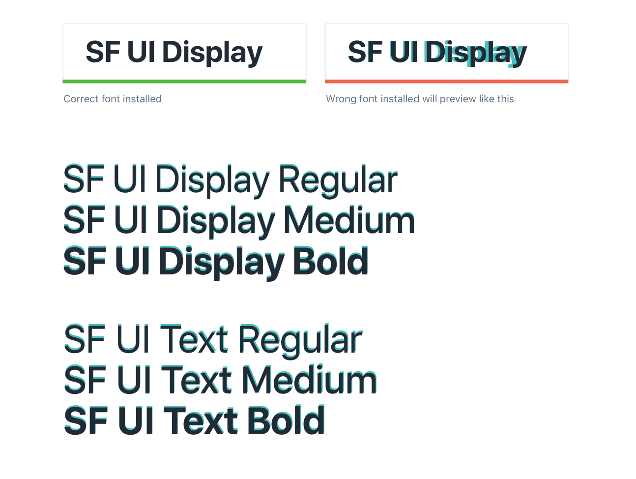 Font used in design is not the as the latest version from