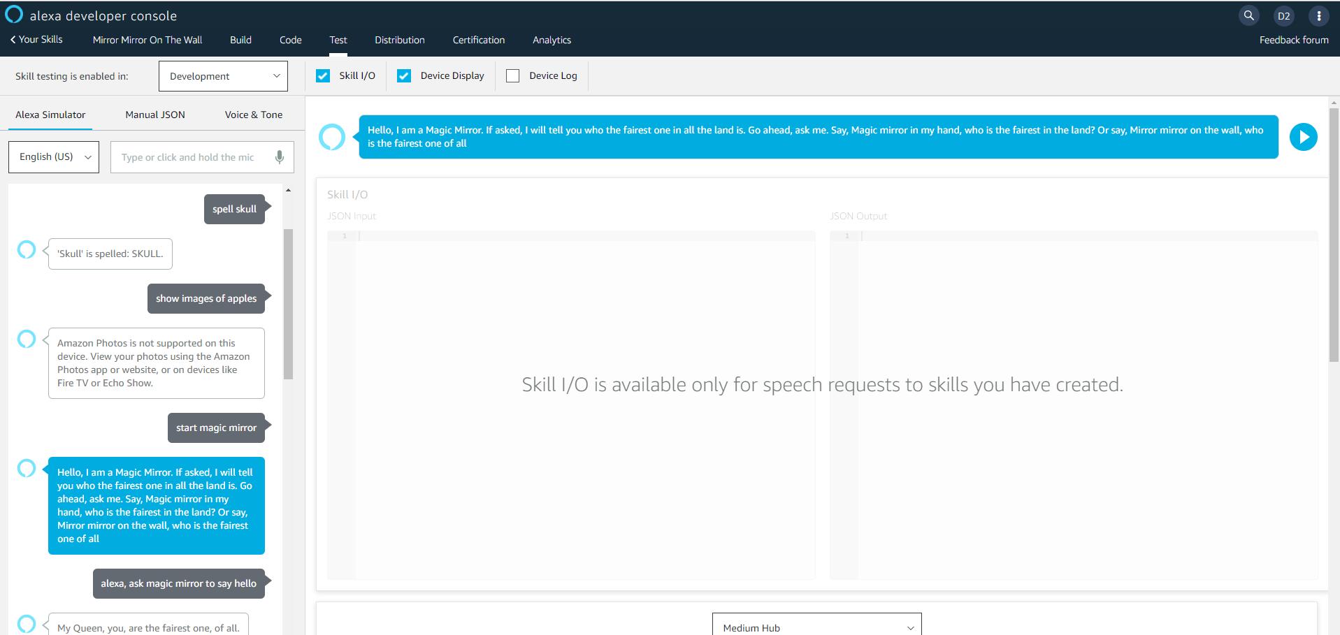 Alexa Developer Console - JSON Editor Build failed · Issue