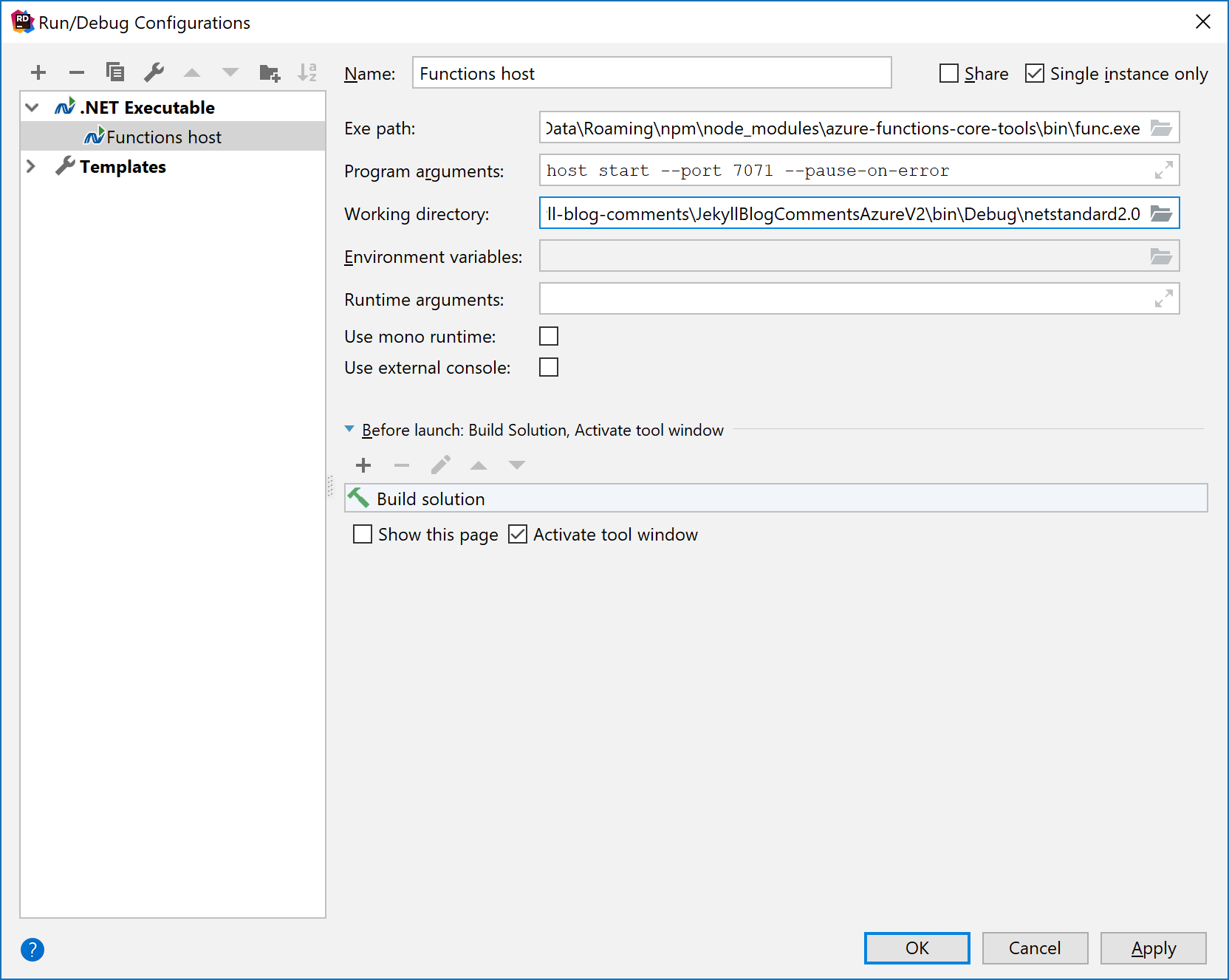Add support for Azure functions · Issue #78 · JetBrains