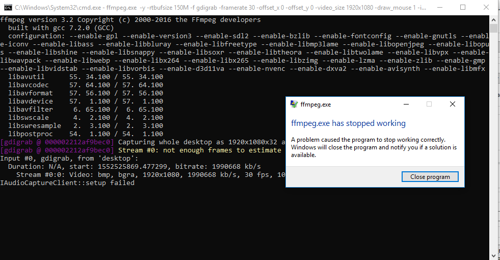 FFMPEG windows 10 Error · Issue #4024 · ShareX/ShareX · GitHub