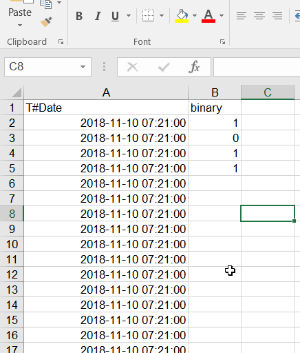 File Widget: Can't switch column type from categorical to