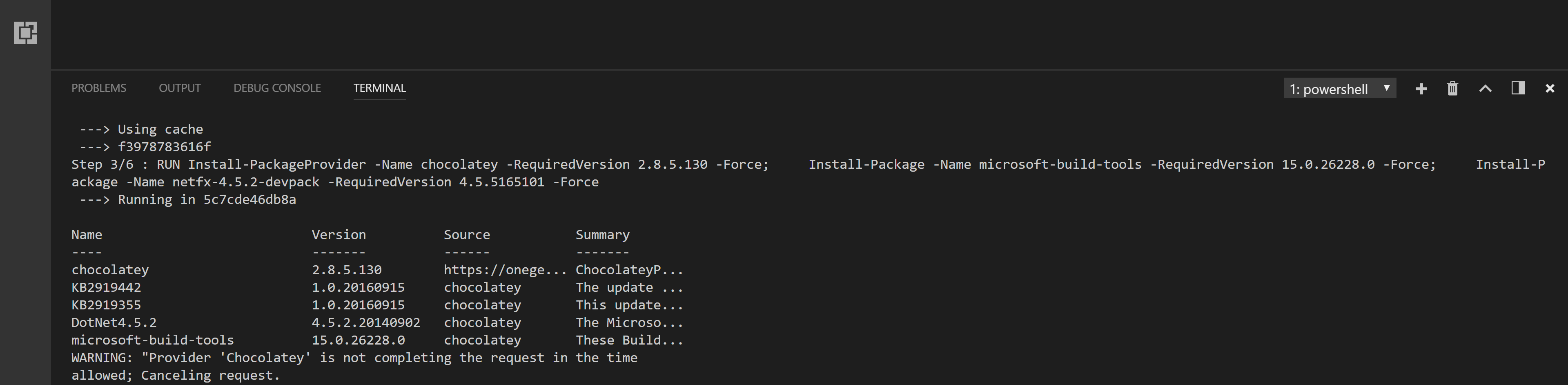 Build of build container for SQL Server lab taking an age
