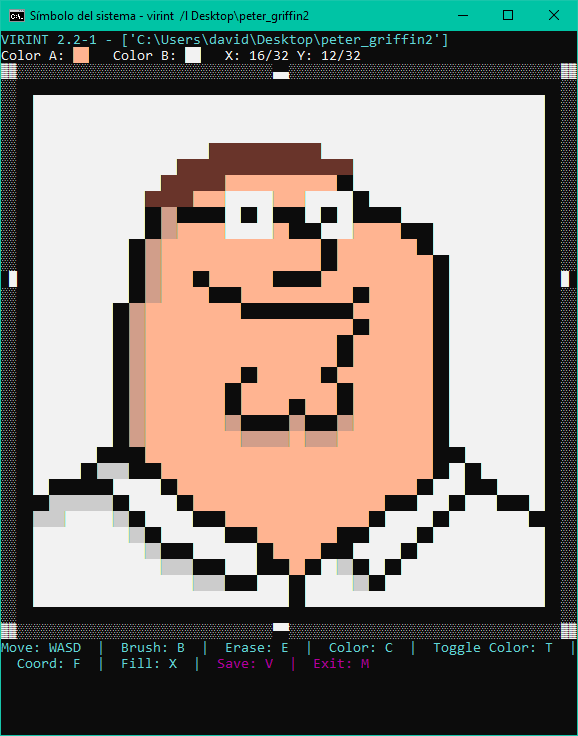 Peter griffin pixel art