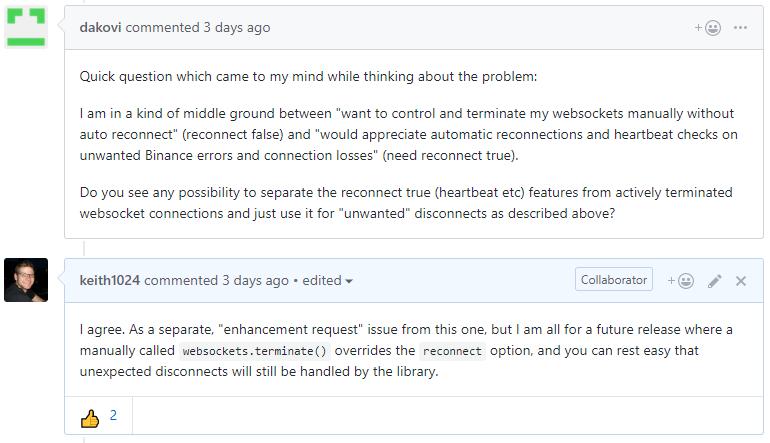 websockets terminate()` calls should override `options