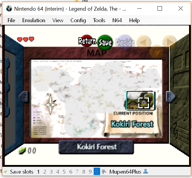 N64] Ocarina of Time Glitched Subscreen / Inventory · Issue