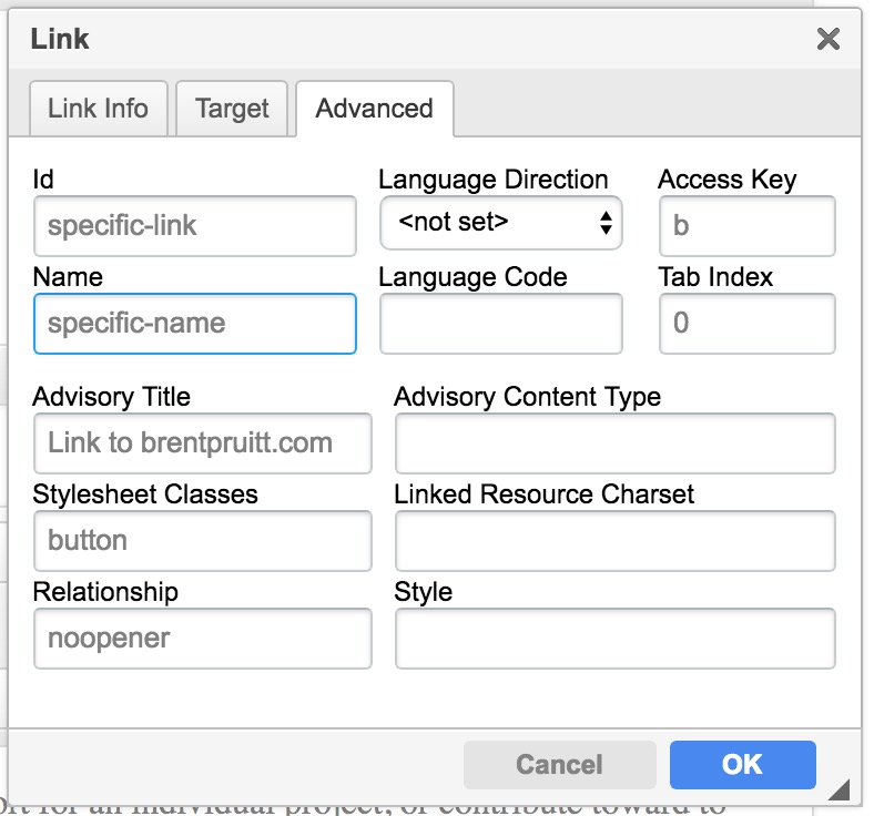 is it possible to add Custom attribute in link? · Issue