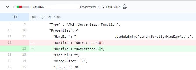 deploy-servereless of netcoreapp2 1 fails when upgrading from