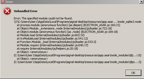 Win7x64: Unhandled Error: Cannot find module node_sqlite3