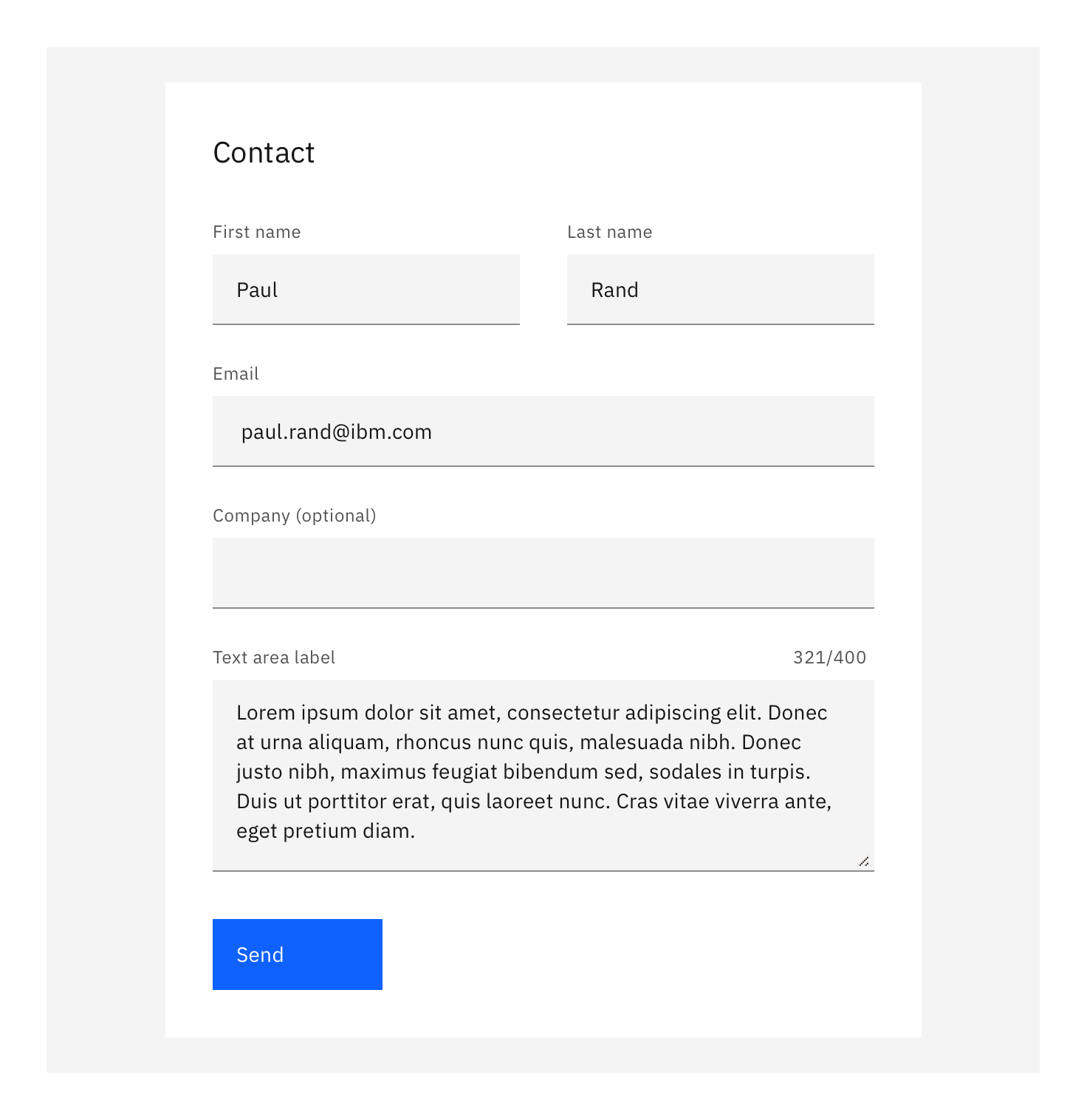 Example of a short user sign-up form using the Optional pattern