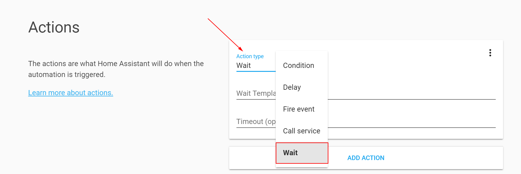 Adding A Wait Action From The Automation Ui Comes Up With