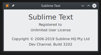 Sublime Text 3 License Key 3207 Github