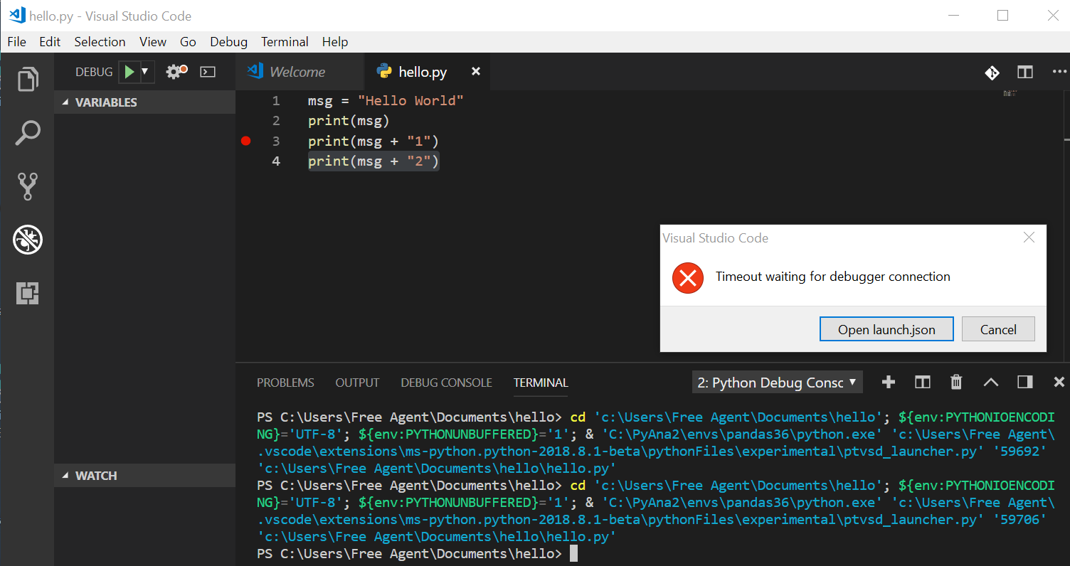 visual studio code for python